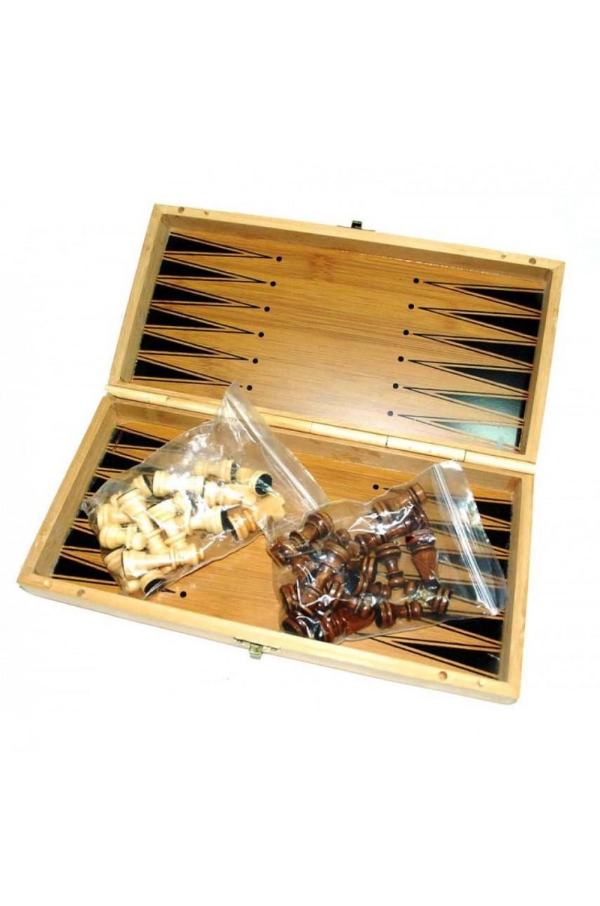 Шахматы бамбуковые 30*30