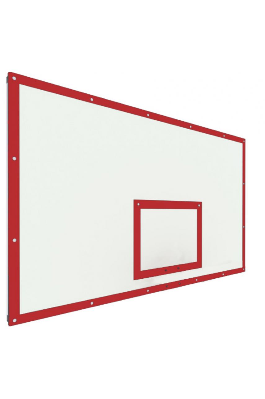 Щит баскетбольный игровой 1800х1050 фанера на раме (разметка красная иди черная)
