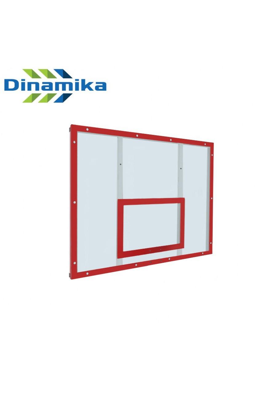 Щит баскетбольный тренировочный 1200х900 поликарбонат на раме (разметка белая или красная)