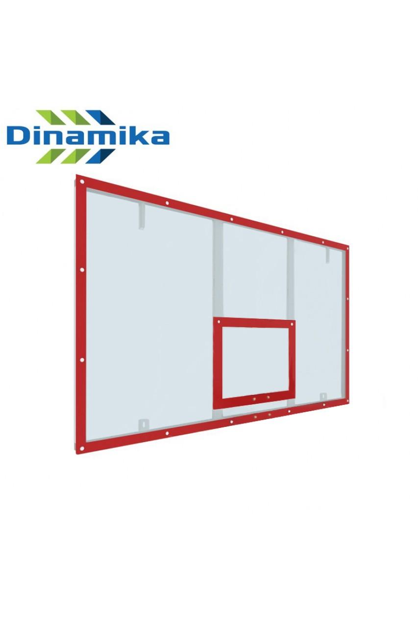 Щит баскетбольный игровой 1800х1050 оргстекло на раме (разметка белая или красная)