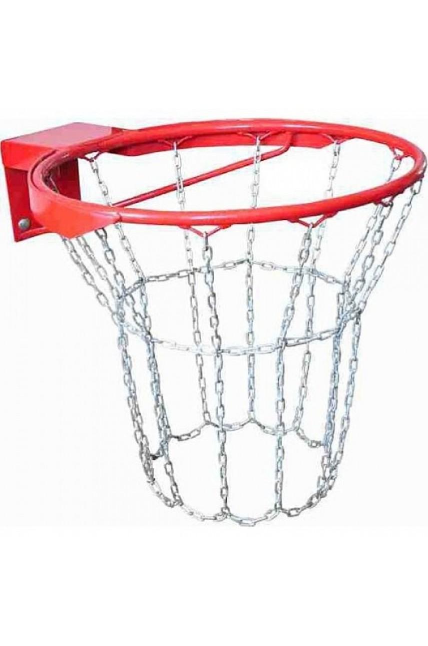 Кольцо баскетбольное антивандальное №7 с метал. сеткой