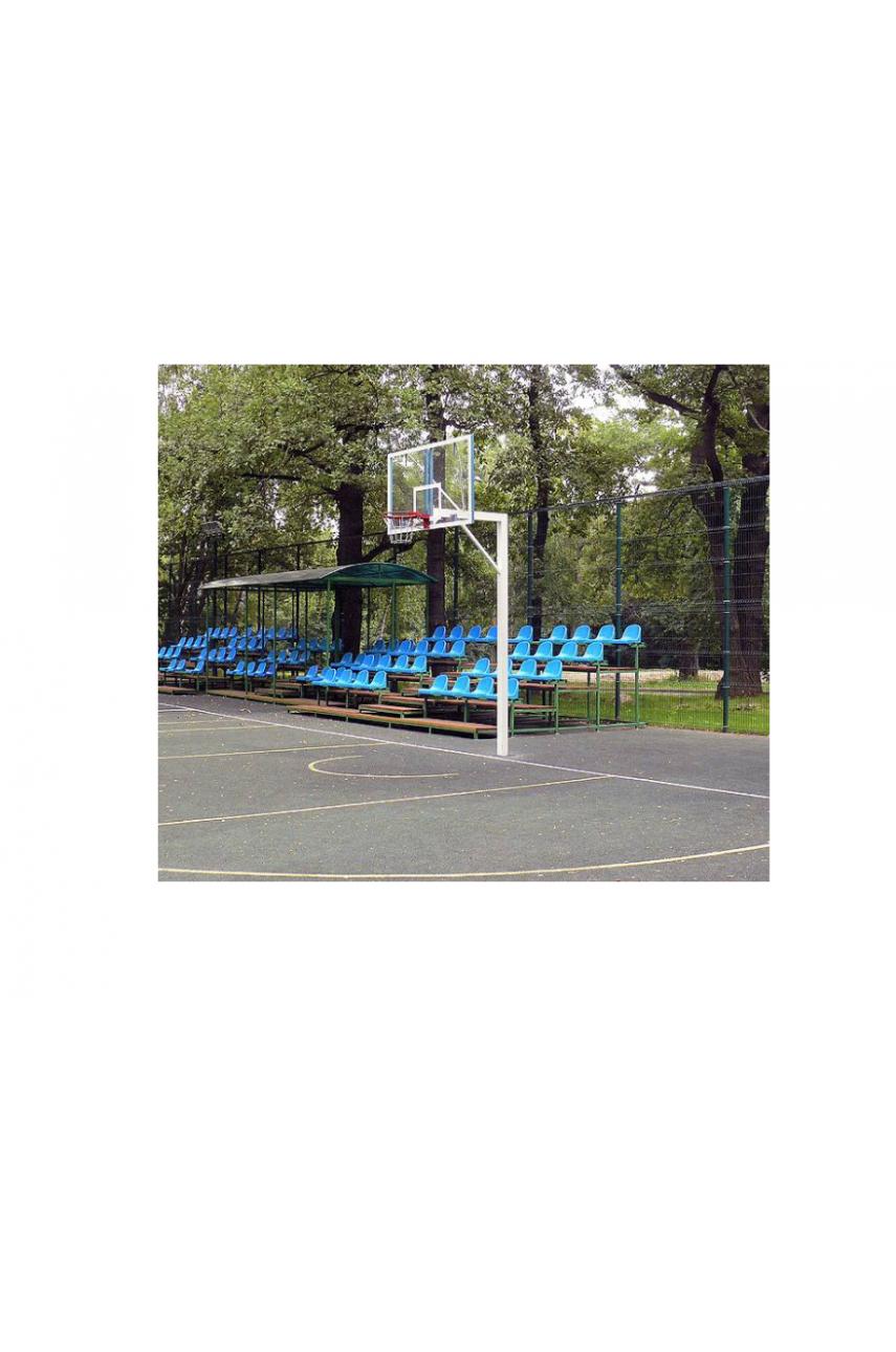 Стойка баскетбольная под бетонирование, вынос 1,2 м