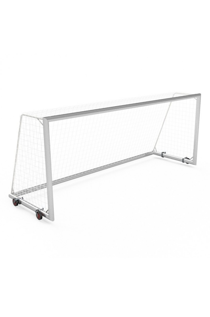 Футбольные ворота 5х2 м мобильные с колесами, главная рама и нижняя рама - алюминиевый профиль 120x100 мм