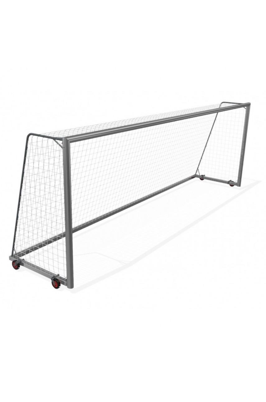 Мобильные футбольные ворота 7,32х2,44 мм с 4 колесами