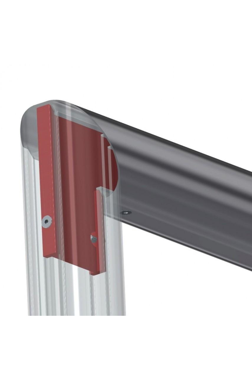 Профессиональные алюминиевые футбольные ворота 7,32x2,44 м