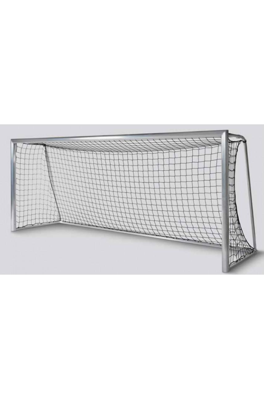 Ворота футбольные 5х2x1.5м, алюминиевые, переносные с ручками, сборно-разборные.