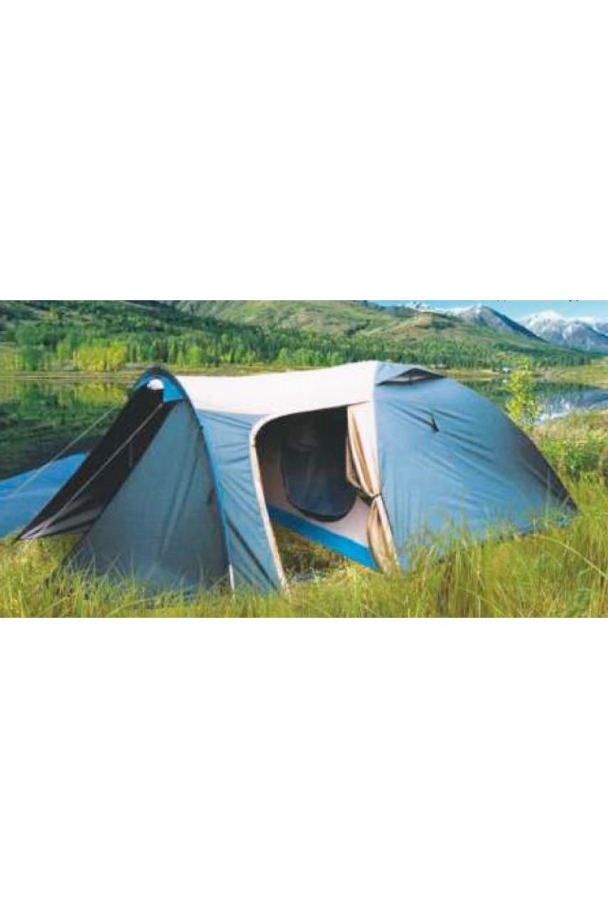 """Палатка 4-х местная двухслойная с увеличенным тамбуром """"Верас"""""""
